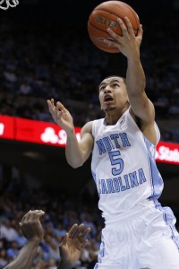 Marcus Paige has his eyes on the basket (Todd Melet)