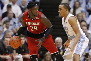 Brice taking on Louisville star Montrezl Harrell (Todd Melet)