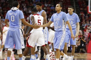 Paige and the Tar Heels scarped by N.C. State Wednesday (Todd Melet)