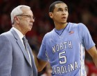 Marcus Paige and Roy Williams survey the situation (Todd Melet)