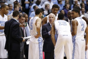 Carolina huddle (Todd Melet)