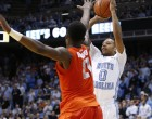 Nate Britt knocked down a career-high four 3-pointers Monday night (Todd Melet)