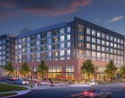 Artist's rendering of Village Plaza Apartments.