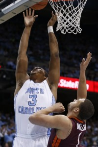 Kennedy Meeks jumps up to the basket (Todd Melet)