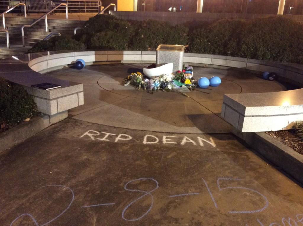 Remembering Dean Smith - makeshift memorial 2