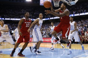 The crowd was loud Tuesday night, but the UNC players fell short (Todd Melet)
