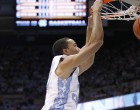 Brice Johnson with an emphatic slam dunk (Todd Melet)
