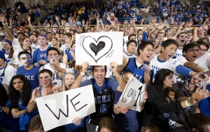 The Cameron Crazies love their Coach (Duke Photography)