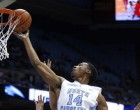 Desmond Hubert lays one in. (Yahoo.com)