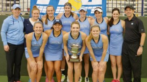 The UNC women's tennis team celebrated abother national championship Monday (UNC Athletics)