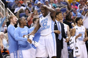 Joel James and the Tar Heels survived to fight another day (Todd Melet)