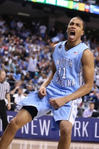 Brice Johnson was fired up Thursday afternoon (Todd Melet)