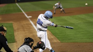 Bolt's towering home run drive on Tuesday against Appalachian State. (UNC Athletics)
