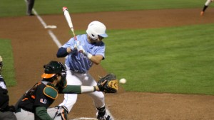 Zack Gahagan tied the game up with his RBI single in the bottom of the ninth. (UNC Athletics)