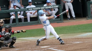 Zack Gahagan has started to earn the bulk of the playing time at first base. (UNC Athletics)