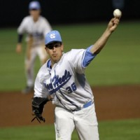Hunter Williams, a freshman, delivered six innings, while allowing only two hits, for the second straight Tuesday. (UNC Athletics)