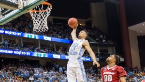J.P. Tokoto cleaned up his act Saturday night (UNC Athletics)