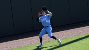 Left-fielder Landon Lassiter drove in a pair of RBI for the Tar Heels. (UNC Athletics)