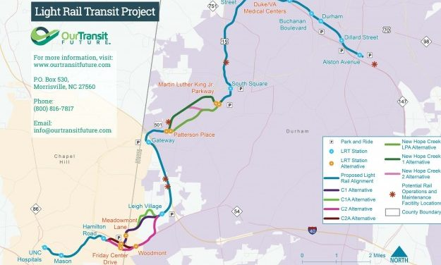 Triangle Transit Holds Light Rail Open House