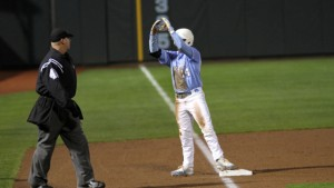 Tyler Ramirez got down and dirty on Saturday, making a number of huge hustle plays. (UNC Athletics)