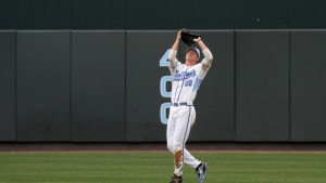 Skye Bolt was back in center-field on Friday night after being benched on Tuesday. (UNC Athletics)