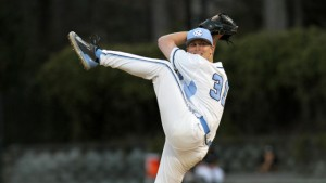 Earning the start for UNC was Trent Thornton, who had been serving as the closer temporarily. (UNC Athletics)