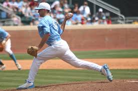 Trevor Kelley was outstanding against Liberty, going - innings without allowing a runner to reach base. (Daily Tar Heel)