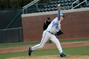 Zac Gallen was lights out after giving up a home run in the first inning. (UNC Athletics)