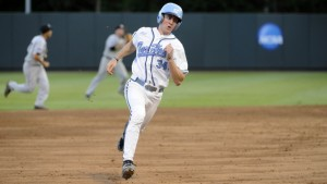 Brian Miller reached base four times against Wilmington, scoring twice. (UNC Athletics)