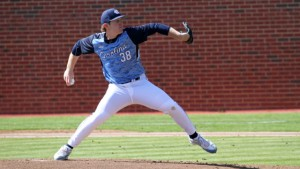 JB Bukauskas cut through the Wolfpack lineup on Saturday night, despite allowing two home runs. (UNC Athletics)