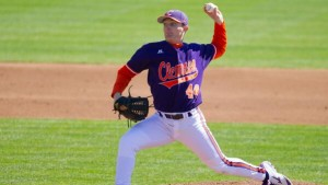 UNC will face a stiff test on Friday against Clemson lefty Matthew Crownover. (Clemson Athletics)