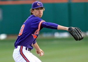 Clemson lefty Zack Erwin pitched an incredible nine innings on 117 pitches. (Independentmail.com)