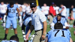 Fedora running practice (UNC Athletics)