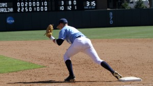 Zack Gahagan has shown great versatility, performing well at both first and third base. (UNC Athletics)