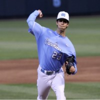 Zac Gallen continued his superb pitching at home, silencing the Boston College bats on Friday. (UNC Athletics)