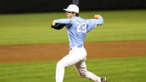 Zac Gallen settled down eventually, but allowed five runs in the first three innings. (UNC Athletics)