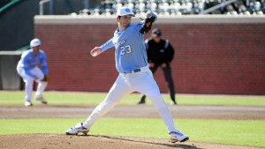 Zac Gallen pitched well in the first game, but was let down by his bullpen. (UNC Athletics)