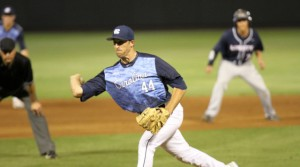 Trevor Kelley's sidearm release has contributed to his durability this year. (UNC Athletics)