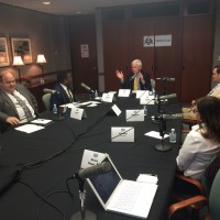 WCHL Forum Education Panel with Graig Meyer, Kristin Hiemstra, James Barrett, Darrell Allison, moderated by D.G. Martin