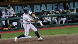 Alex Raburn led the Tar Heels offensively, picking up three hits, including a double and a home run. (UNC Athletics)