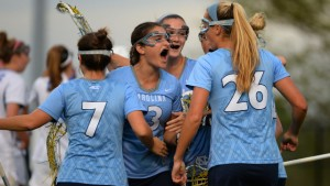 Sammy Jo Tracy gets all fired up (UNC Athletics)