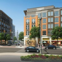Artist's rendering of Carolina Square's street front.