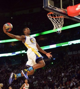 Barnes at the 2014 NBA All-Star Dunk Contest (LA Times)