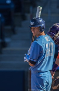 Skye Bolt's time in a Carolina uniform is likely over, as the junior center fielder is expected to be an early MLB draft pick. (Smith Cameron Productions)