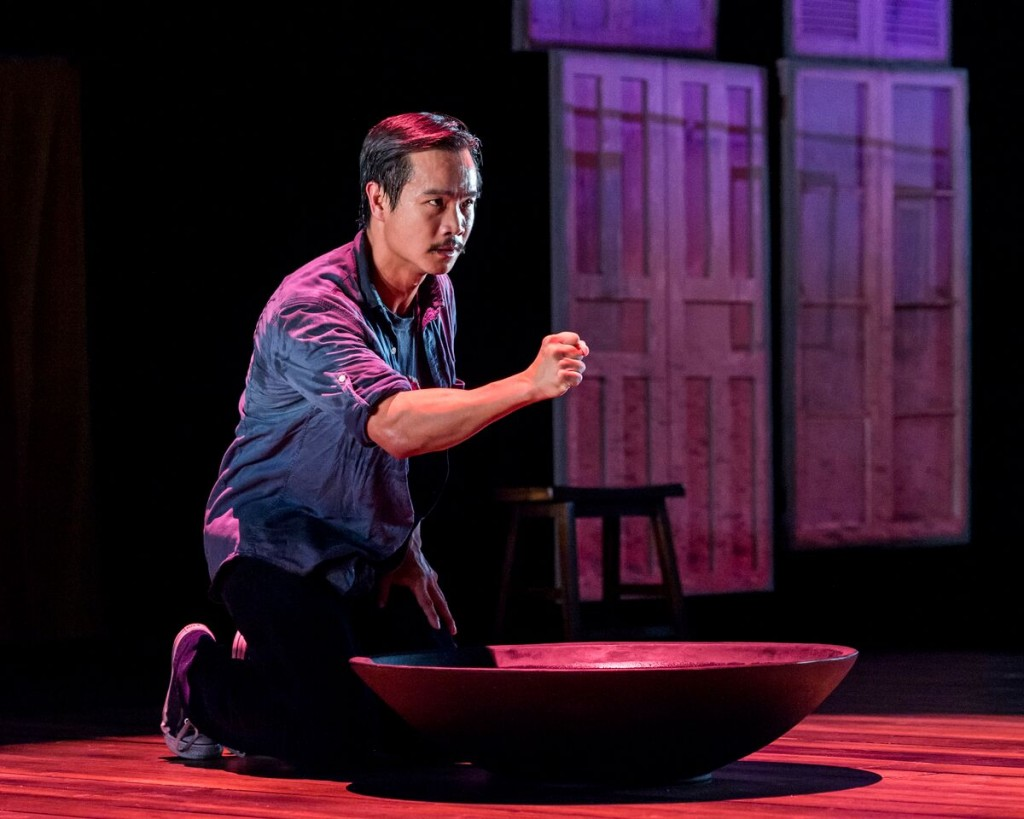 "Trieu Tran in ""Uncle Ho to Uncle Sam."" Courtesy of Center Theatre Group. Photo by Craig Schwartz."