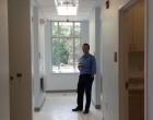IFC Executive Director Michael Reinke tours the dental clinic.