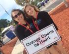 Photo via the Orange Opens Its Heart page.