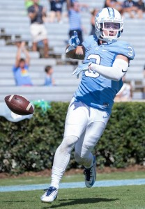 Ryan Switzer after a punt return for a touchdown. Photo via Smith Cameron Photography