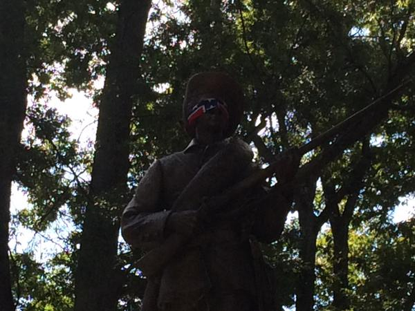 Silent Sam Blindfolded