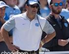North Carolina head coach Larry Fedora